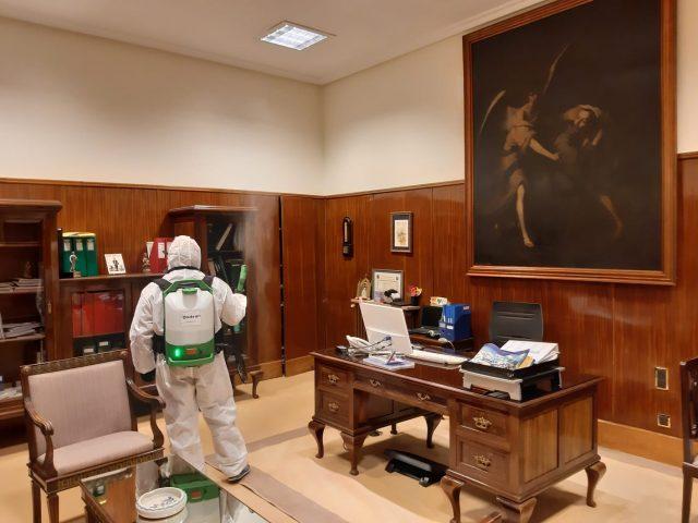 ONDOAN lleva a cabo los trabajos de desinfección en la residencia para mayores de la Casa de Misericordia de Bilbao