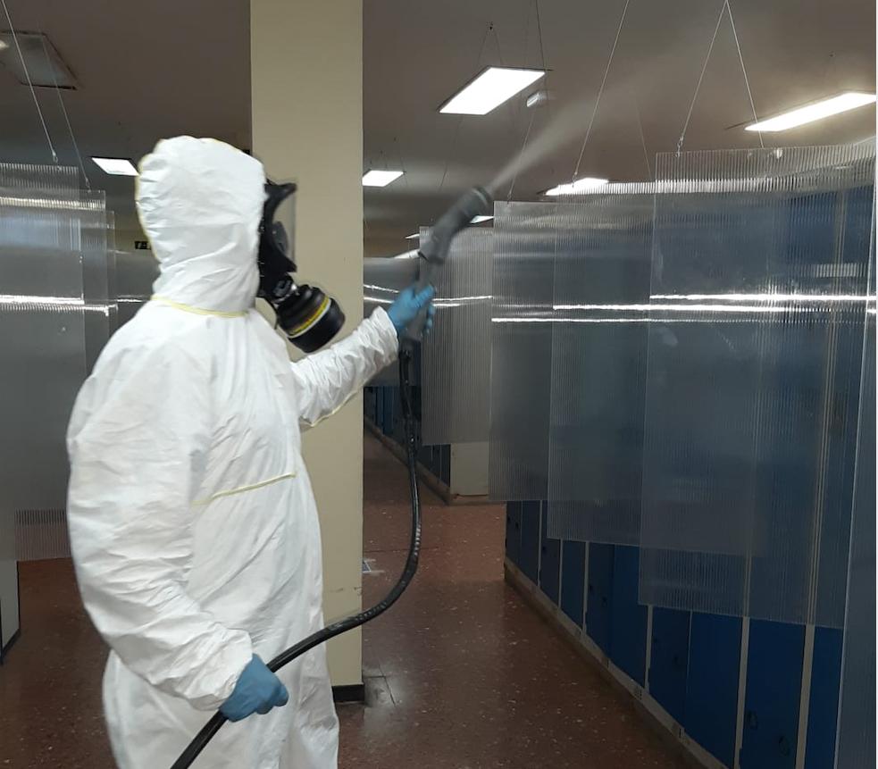 ONDOAN continúa su labor preventiva contra el COVID-19 con trabajos de desinfección en Aceros Inoxidables Olarra