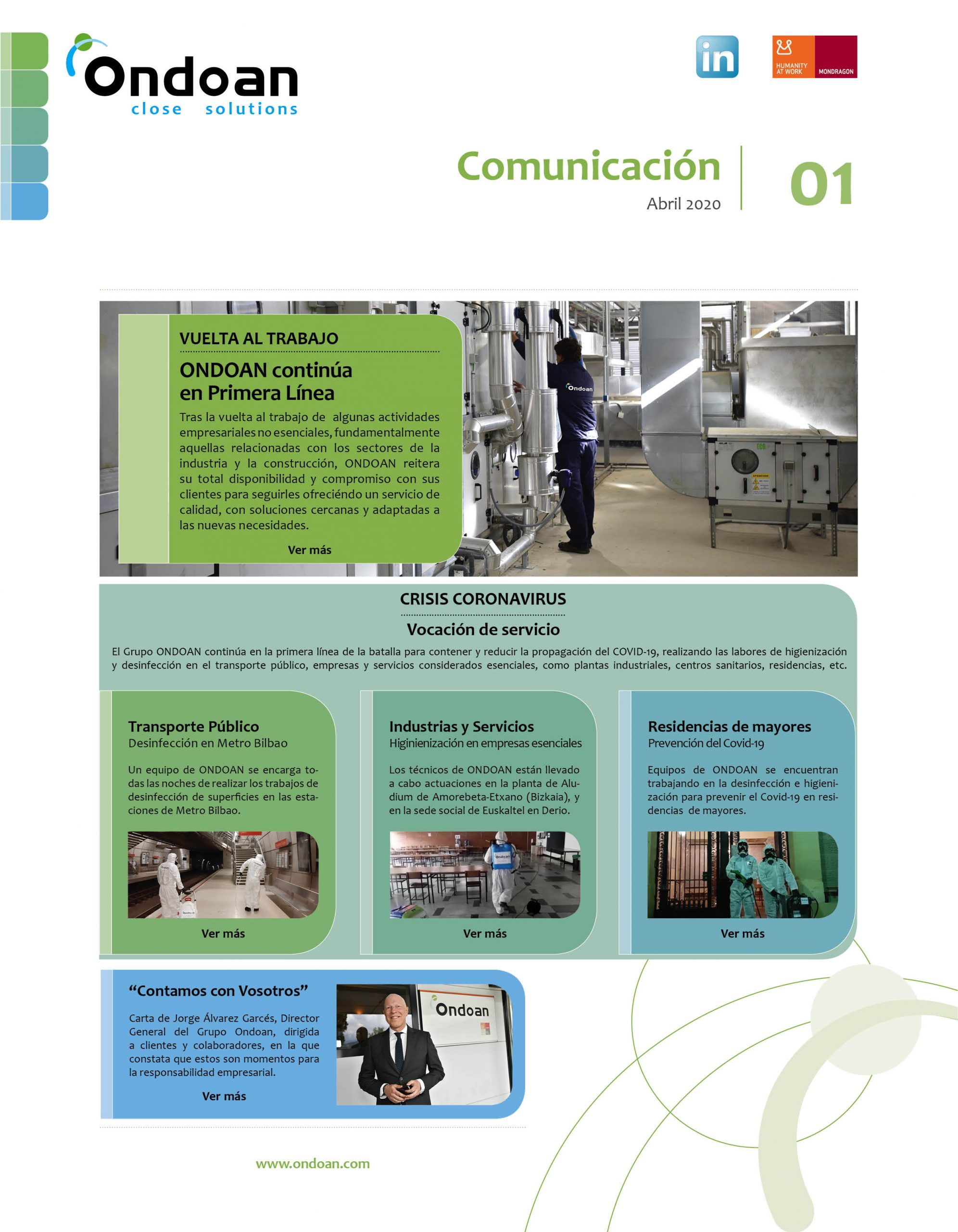 Presentamos la newsletter digital 'Ondoan Comunica'